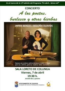 """Javier Bergia & Begoña Olavide """" A los Poetas, Burlesco y otras Hierbas"""""""