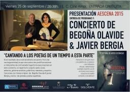 Begoña Olavide & Javier Bergia en concierto