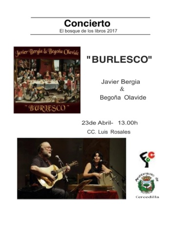 """Javier Bergia & Begoña Olavide """" A los Poetas, Burlesco y otras Verduritas Selectas"""""""