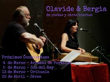 """Olavide & Bergia  """"de poetas y otras hierbas"""""""