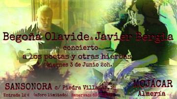 """Javier Bergia & Begoña Olavide  """"A los poetas y otras hierbas"""""""