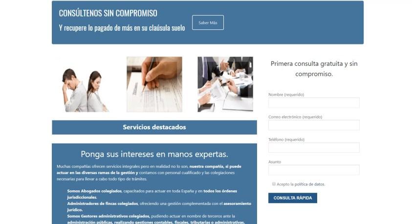 Diseño web para despacho de abogados 3