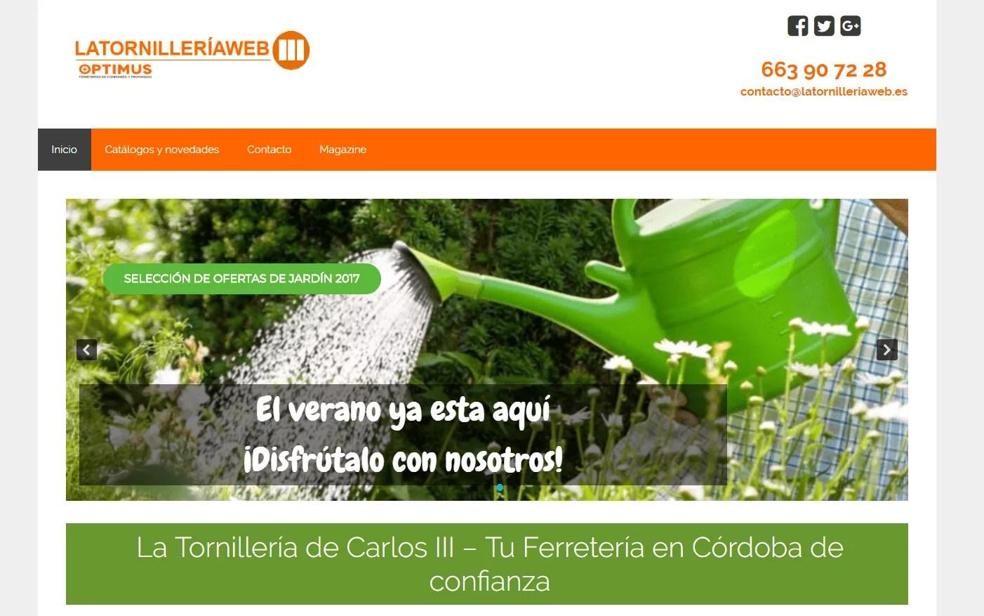 Diseño web para ferretería