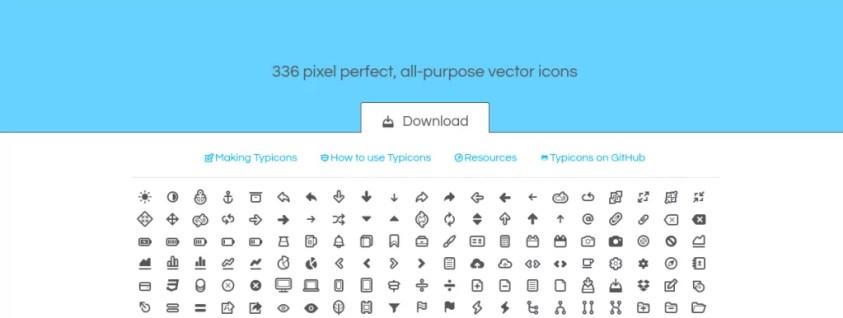 typicons iconos