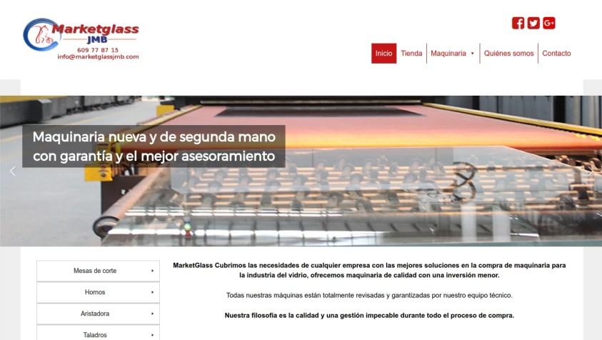 Diseño web MarketGlass