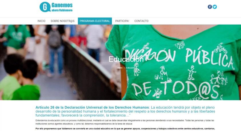 Diseño web para organización social 4