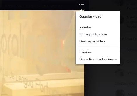 insertar video Facebook