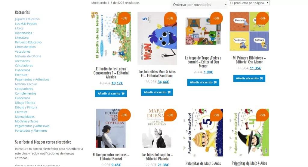 Diseño de tienda online Papeleria libreria 5