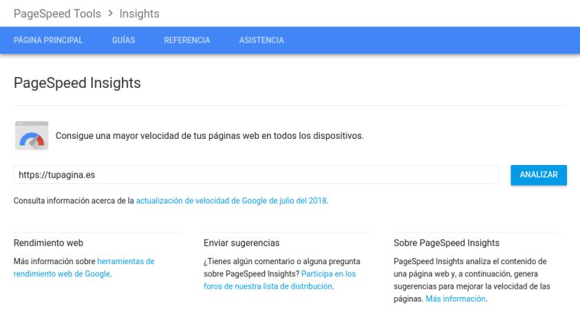 PageSpeed mejorar la velocidad de wordpress