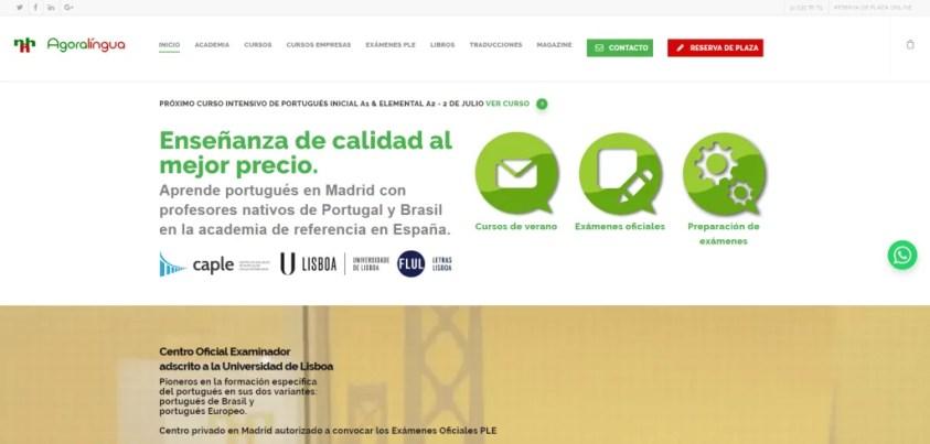 Posicionamiento SEO academia de Idiomas en Madrid