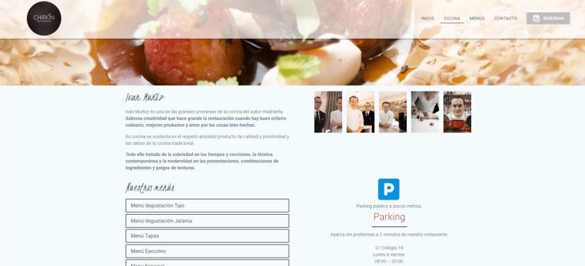 Diseño web para restaurante 2
