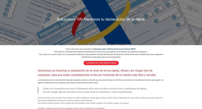 Diseño web gestoría Madrid