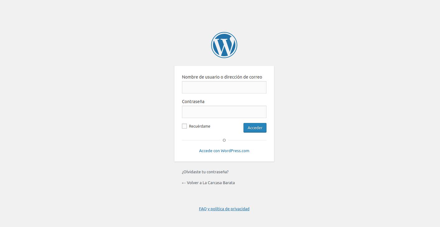 Personalizar el login de Wordpress