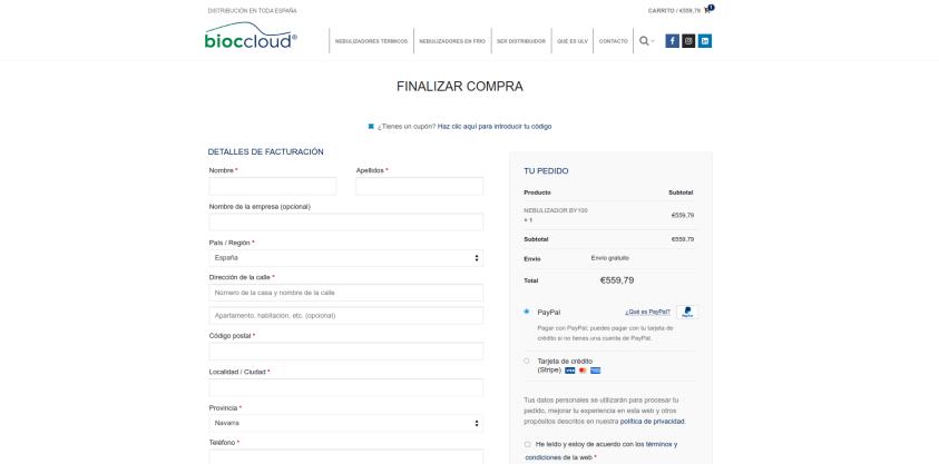 Diseño tienda online en Pamplona - Navarra 5 Bioccloud