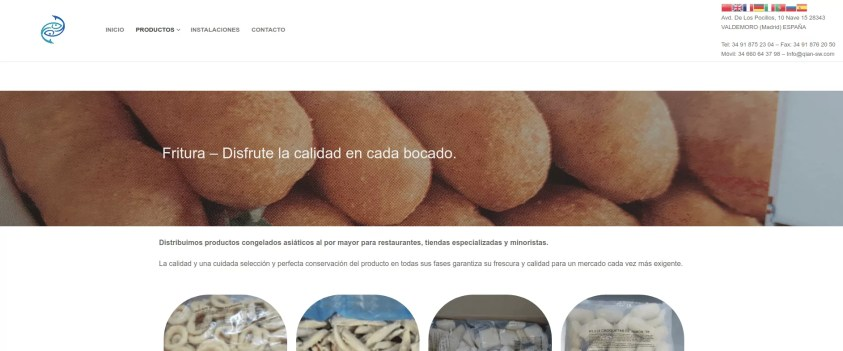 Diseño de web corporativa en Madrid productos