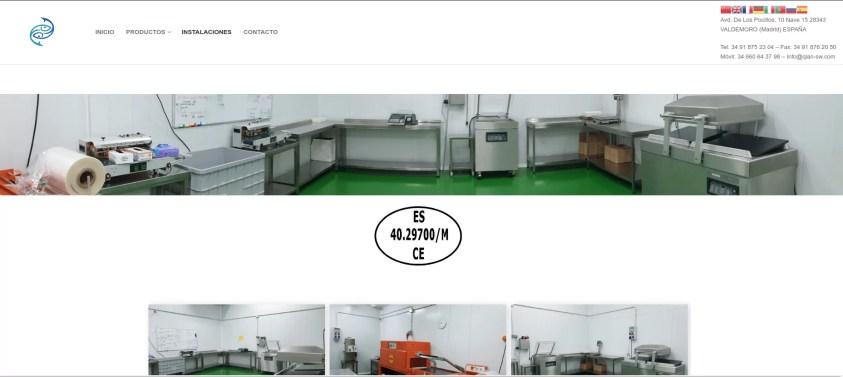 Diseño de web corporativa en Madrid Instalaciones