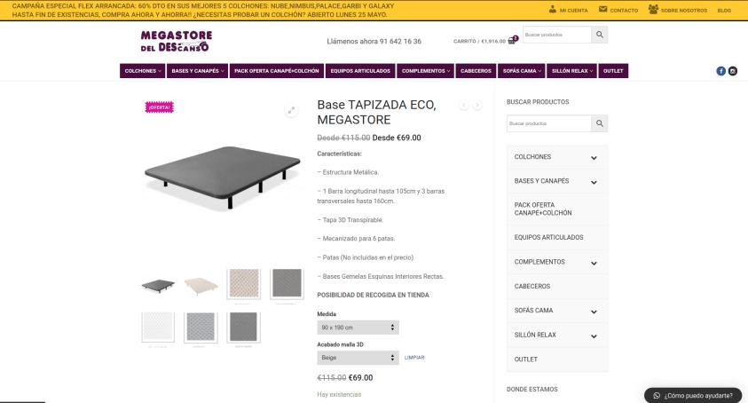 Diseño de tienda online en Fuenlabrada Productos