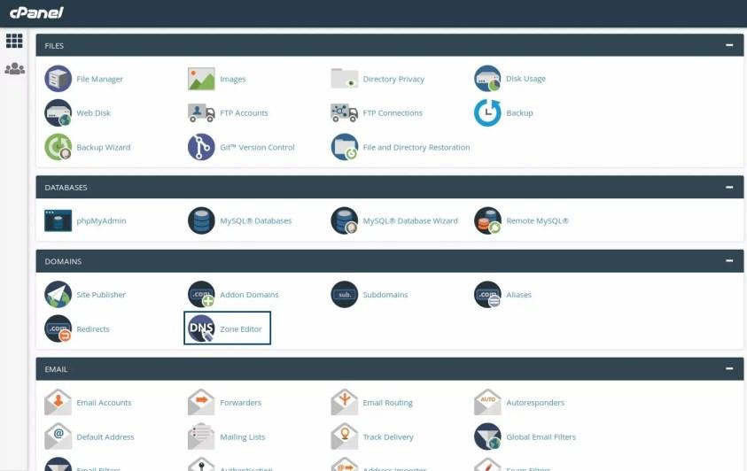 Diseño de páginas web CPanel hosting