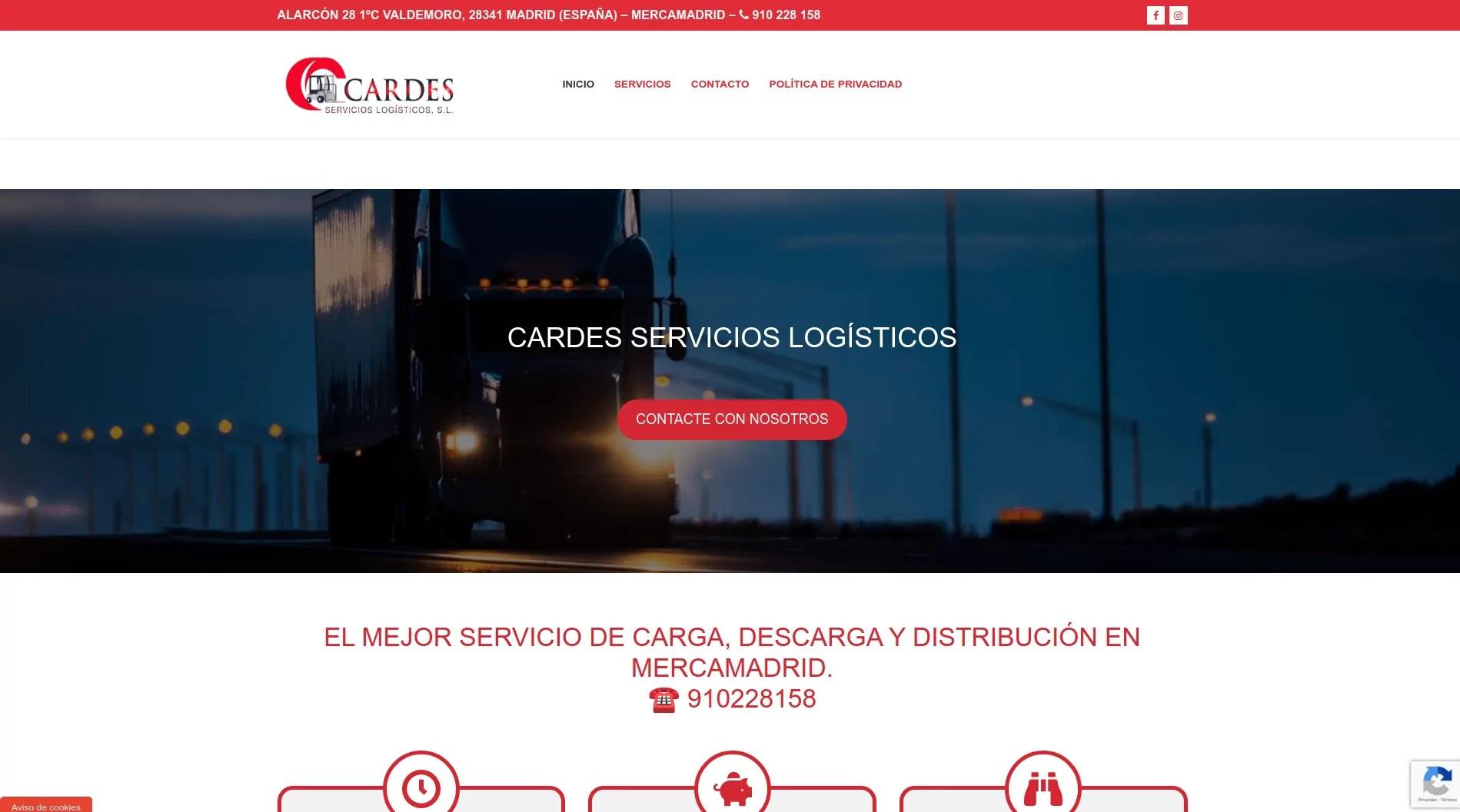 Diseño web en Barajas Madrid - cardes.es