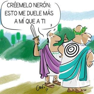 El emperador romano Nerón