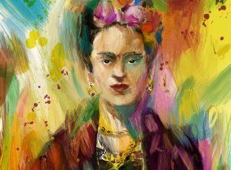 Pintura acerca de Frida Kahlo