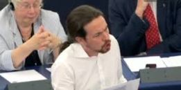 01/07/2014   Pablo Iglesias haciéndose notar en su estreno como euro parlamentario