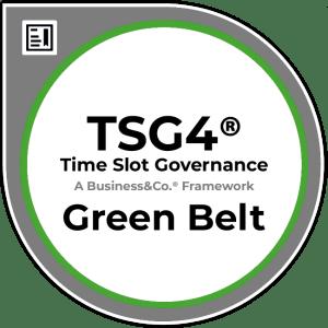 Time Slot Governance TSG4® Green Belt Badge