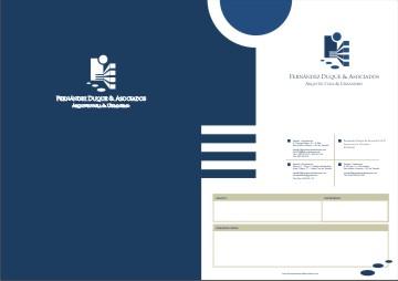 Carpeta · Fernández Duque y Asociados · Estudio de Arquitectura y Urbanismo · Imagen Corporativa · Javiersebastian
