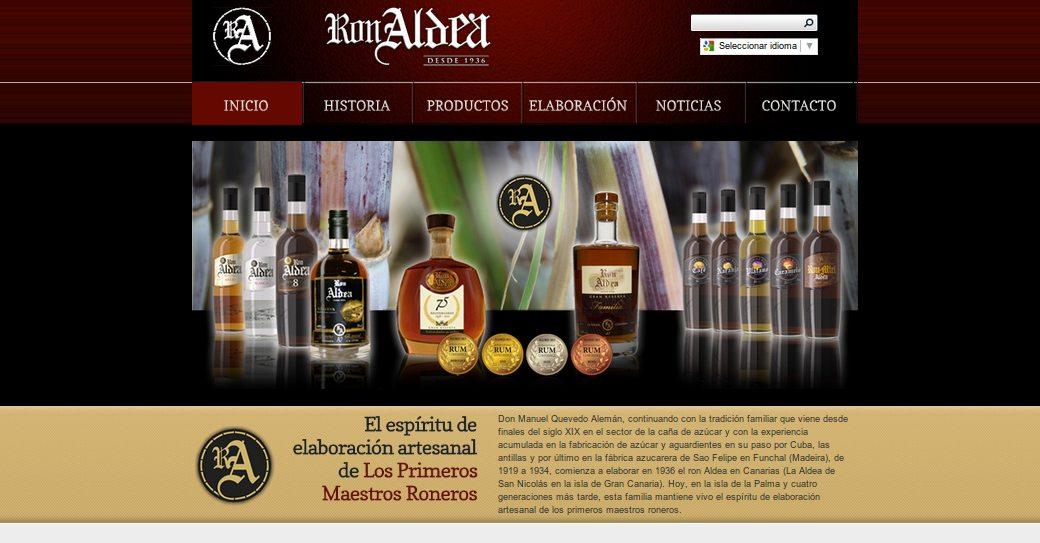 Cabecera web destileriasaldea.es · Javier Sebastián Diseño Gráfico