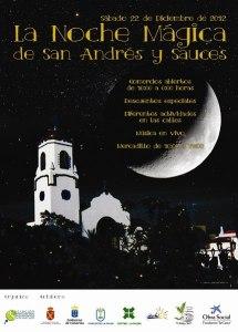 Cartel para la Campaña de Navidad de la Asociación de Comerciantes y Empresarios de San Andrés y Sauces 2012 La Noche Mágica
