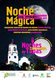"""Cartel """"Noche Mágica"""" y """"Noches de Tapas"""" 2013. San Andrés y Sauces."""