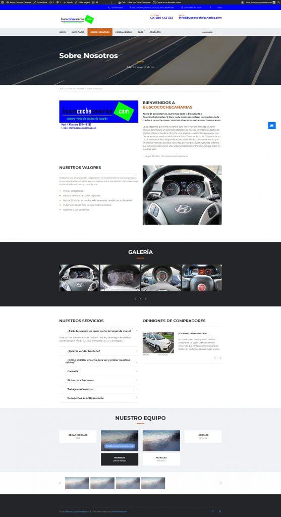 Diseño Web BuscoCocheCanarias · Compra Venta de Vehículos Nuevos y Usados · Los Cancajos · La Palma
