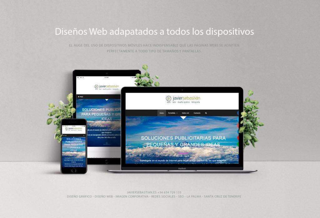 Diseño Web Responsive · Diseñador freelance JavierSebastian · La Palma · Tenerife