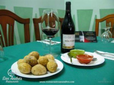 Fotografía Gastronómica · Papas arrugadas con sus mojos · Restaurante San Andrés · La Palma