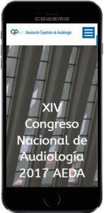 Diseño Web responsive XIV Congreso Nacional Audiología AEDA 2017