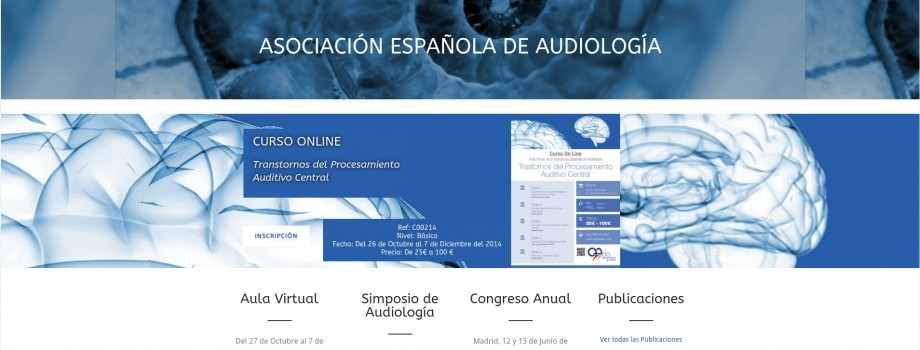 Web Autogestionable Asociación Española de Audiología