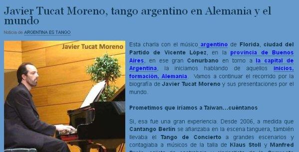Entrevista para Argentina es Tango - Parte 2