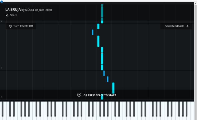 La bruja - Tango - piano tutorial