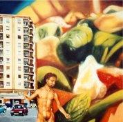 """""""Insalata mista"""", óleo/tabla, 45x45 cm"""