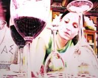 "S/T, serie ""In vino veritas, acrílicos/lienzo, 130x162 cm"