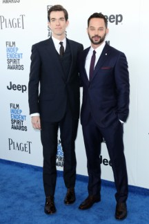 Mandatory Credit: Photo by Matt Baron/BEI/Shutterstock (8434849an) John Mulaney and Nick Kroll 32nd Film Independent Spirit Awards, Arrivals, Santa Monica, Los Angeles, USA - 25 Feb 2017
