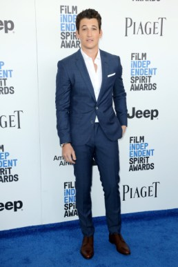 Mandatory Credit: Photo by Matt Baron/BEI/Shutterstock (8434849cs) Miles Teller 32nd Film Independent Spirit Awards, Arrivals, Santa Monica, Los Angeles, USA - 25 Feb 2017