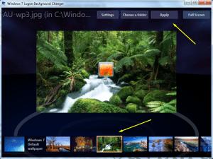 Как поменять экран приветствия в windows 7?