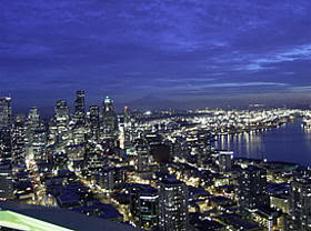 Vista de Seattle desde el Space Needle