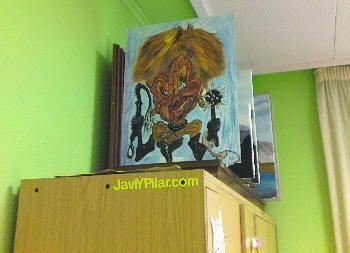 Colección de cuadros en el colegio electoral