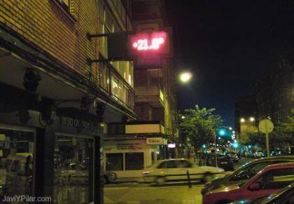 ¡¡¡ 21 grados en la calle a esas horas de la noche !!!
