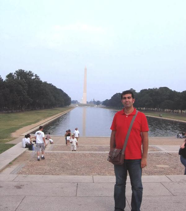 "Haciendo el Forrest Gump en el ""mall"" de Washington D.C."