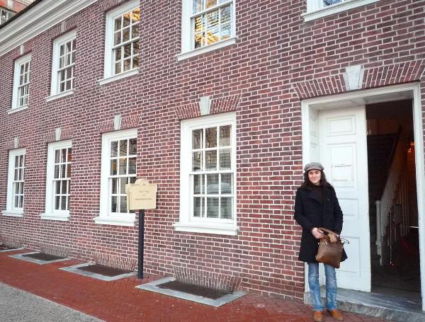 En uno de los accesos al Independence Hall