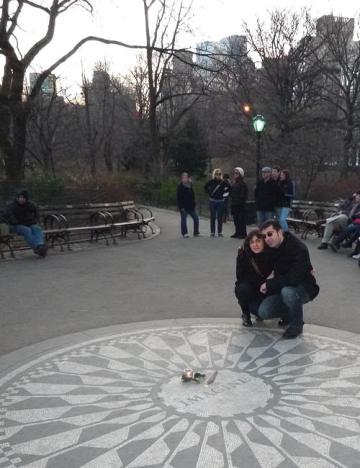 Nosotros en Strawberry Fields (Central Park, Nueva York) en año nuevo de 2009