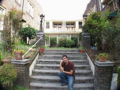 """Visitando la casa de la película """"Solteros"""" por primera vez el 10 de agosto de 2008 (después hemos ido muchas más veces, jeje)"""